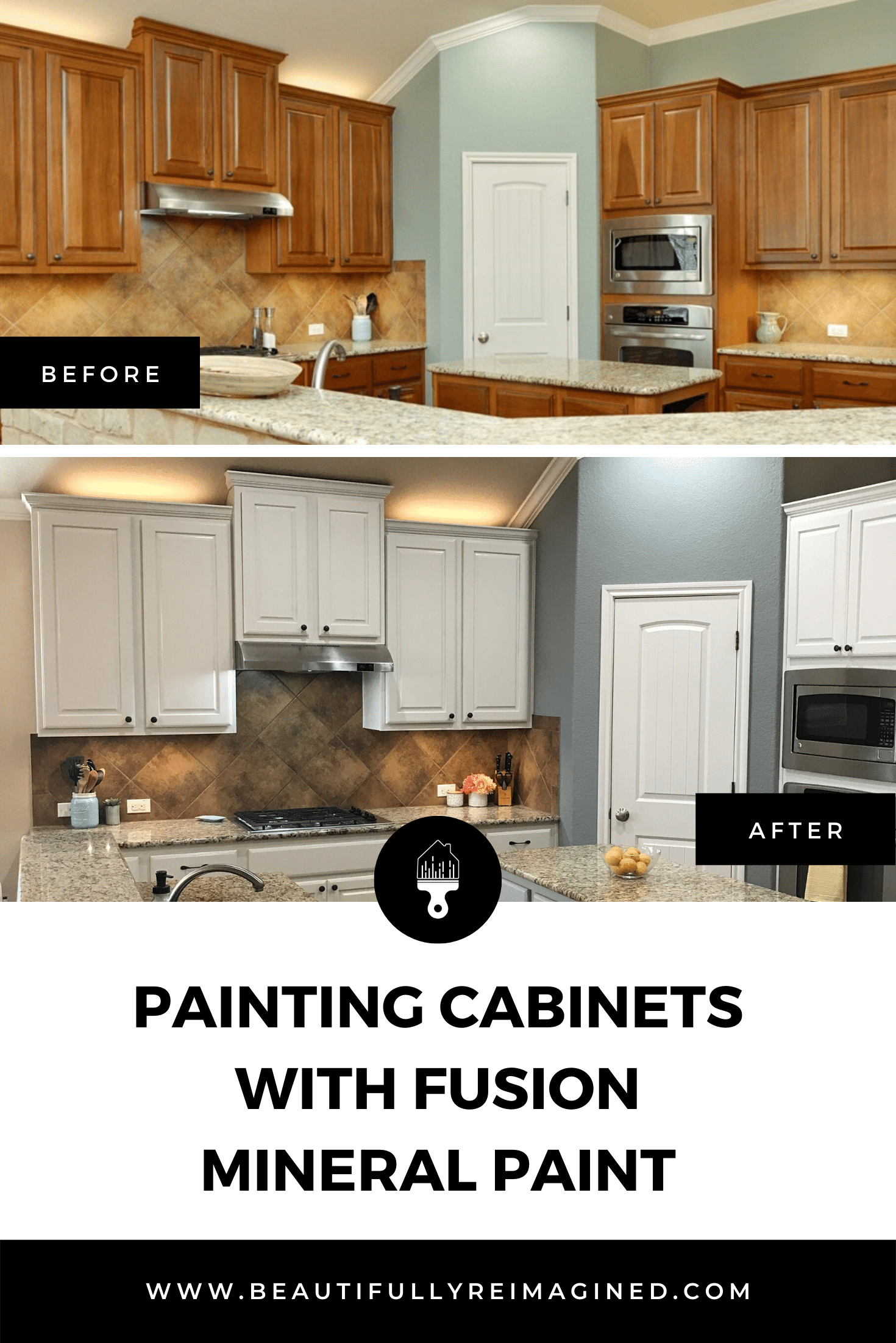 Painting Cabinets With Fusion Mineral Paint Beautifully Reimagined